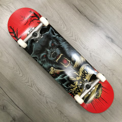 """Скейтборд Footwork 2020 Carbon Wolf Attack 8.25"""""""