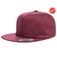 Кепка FlexFit Unstructured 5-Panel Snapback Maroon